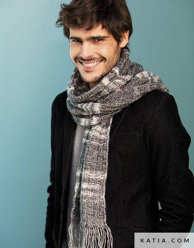 Bufanda - Hombre - Otoño / Invierno - patrones | Katia.com