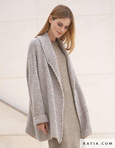 Patron abrigo mujer