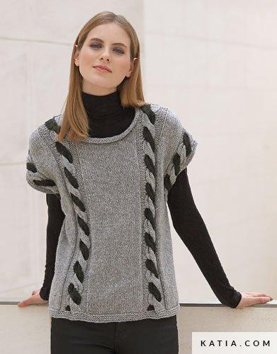 patron tricoter tricot crochet femme pull automne hiver katia 5946 8 g a8266922a94c
