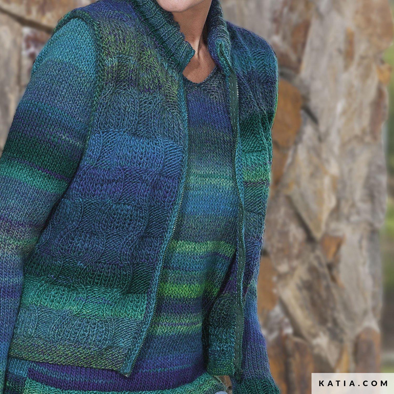 c05b850be60 Vest - Dames - Herfst / Winter - modellen & patronen | Katia.com