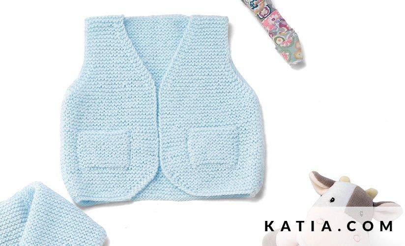 Chaleco - Bebé - Primavera / Verano - patrones | Katia.com
