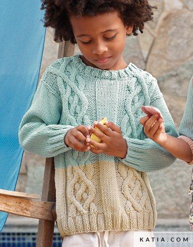 Pullover - Kinder - Frühjahr / Sommer - Modelle & Anlei...   Katia.com