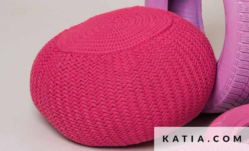 Puff - Hogar - Primavera / Verano - patrones | Katia.com