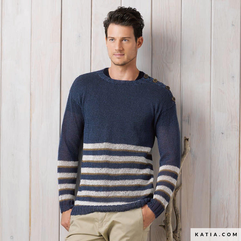 Sweater Man Spring Summer Models Patterns Katia