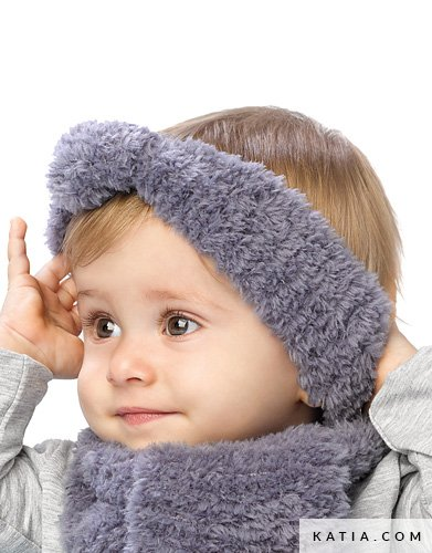 Headband Baby Autumn Winter Models Patterns Katia