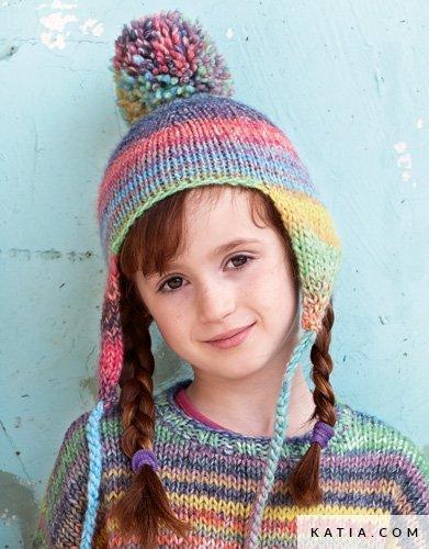 d696ed12ff840 patron tricoter tricot crochet enfant bonnet automne hiver katia 5996 38 g  ...