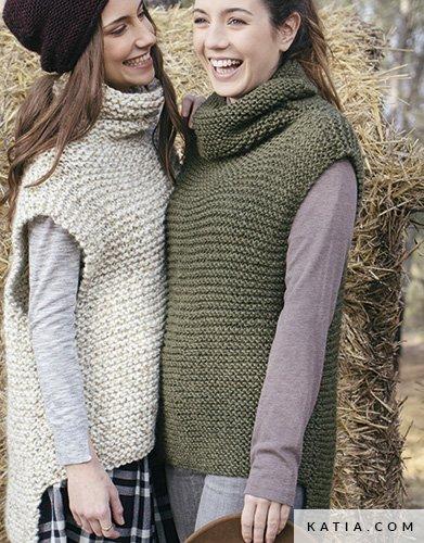 eba50b22355 patroon breien haken dames vest herfst winter katia 5998 14 g ...