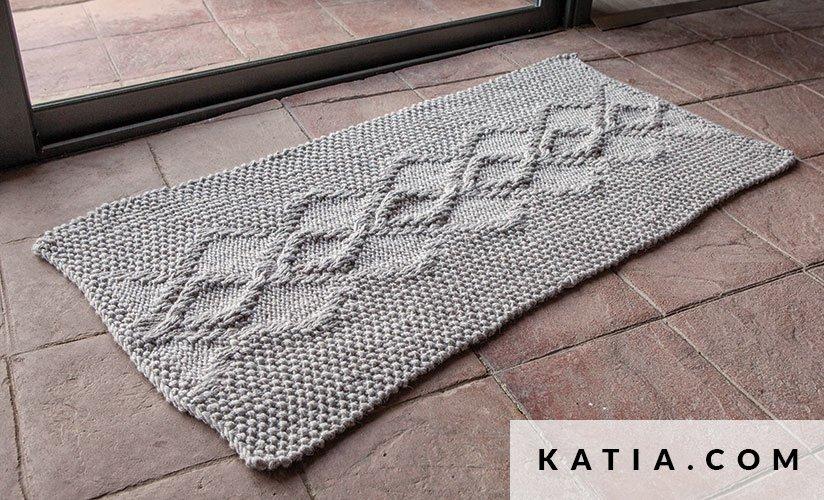 patron tricoter tricot crochet habitat tapis automne hiver katia 5999 26 g - Tapis Habitat