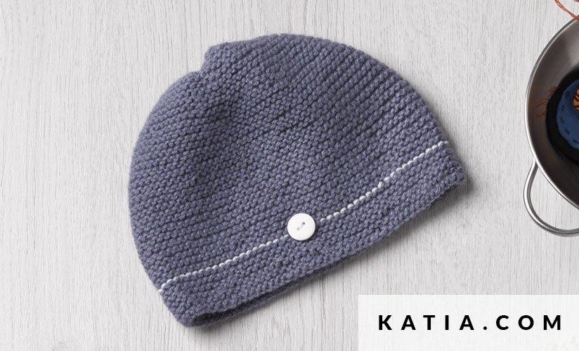 Gorro - Bebé - Primavera / Verano - patrones | Katia.com