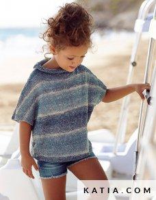patroon breien haken kinderen trui lente zomer katia 6022 1 p