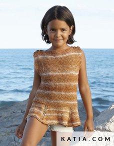 patroon breien haken kinderen trui lente zomer katia 6022 25 p