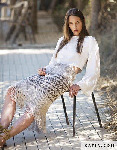 Falda - Mujer - Primavera / Verano - patrones | Katia.com