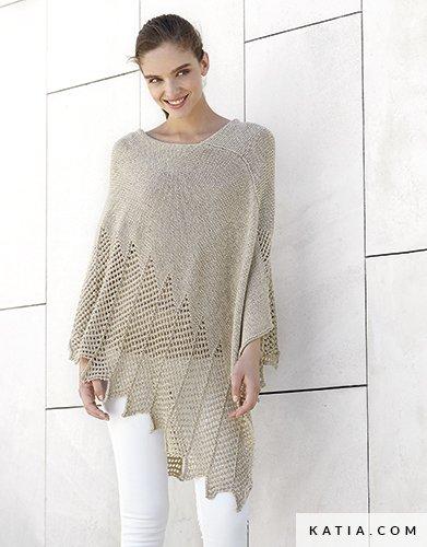 Poncho Woman Spring Summer Models Patterns Katia