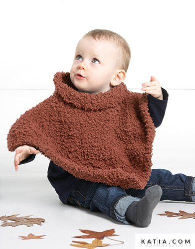 Poncho - Baby - Herbst / Winter - Modelle & Anleitungen | Katia.com