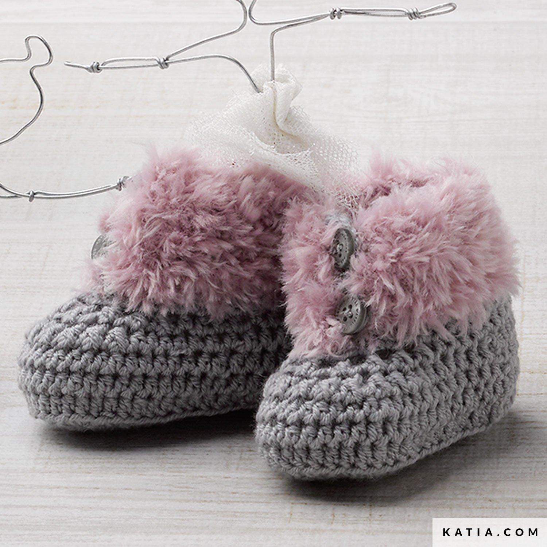 Zapatos - Bebé - Otoño / Invierno - patrones | Katia.com
