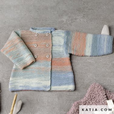 pattern knit crochet baby coat autumn winter katia 6038 29 p