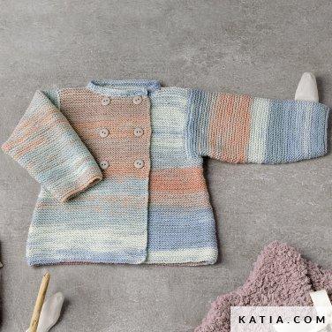 pattern knit crochet baby coat autumn winter katia 6038 29 p