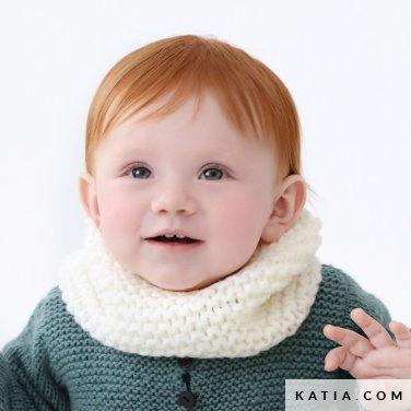 Cowl Baby Autumn Winter Models Patterns Katia