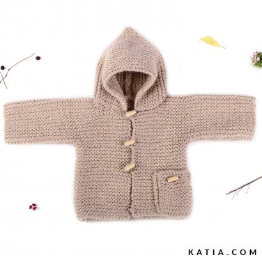 pattern knit crochet baby jacket autumn winter katia 6039 27 p