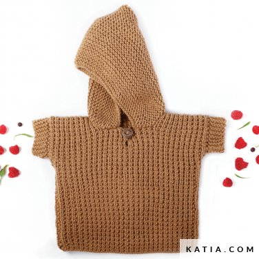 pattern knit crochet baby sweater autumn winter katia 6039 24 p