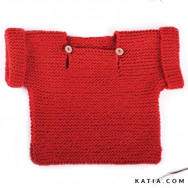 pattern knit crochet baby sweater autumn winter katia 6039 26 p