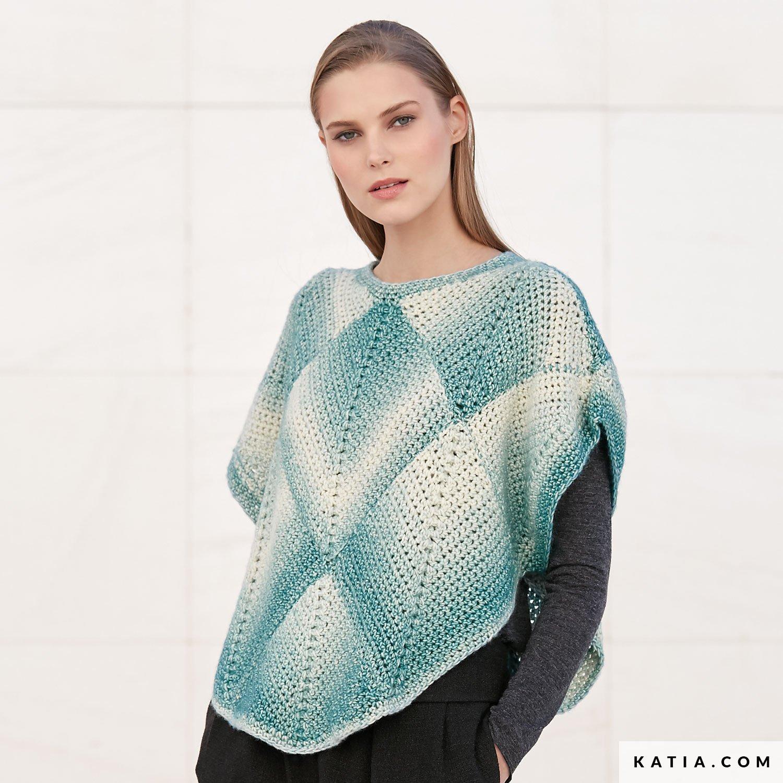 Poncho - Mujer - Otoño / Invierno - patrones | Katia.com