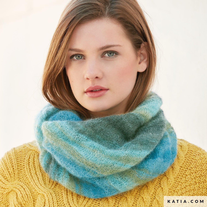 655fe85e5d0ff patron tricoter tricot crochet femme foulard automne hiver katia 6040 58 g