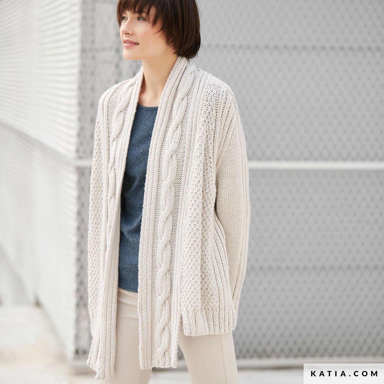 patron tricoter tricot crochet femme veste automne hiver katia 6041 10 g 31d470e5e06d