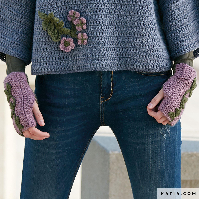 Fingerless Mittens Woman Autumn Winter Models Patterns