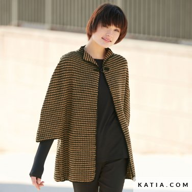 pattern knit crochet woman jacket autumn winter katia 6041 43 p