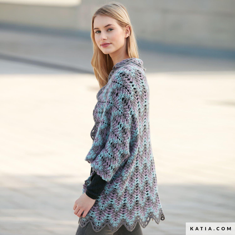 Shawl Woman Autumn Winter Models Patterns Katia