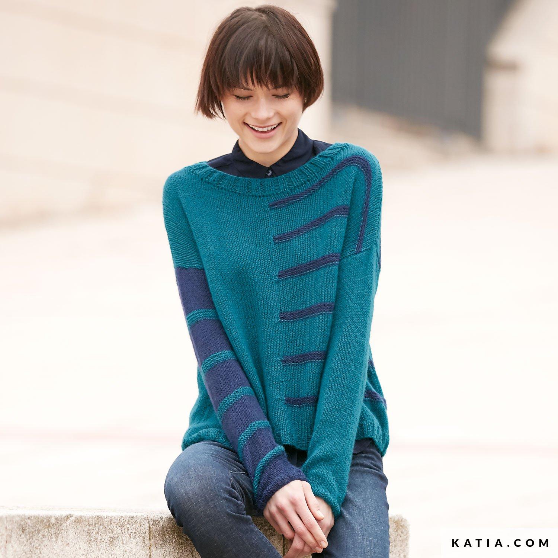 a39f4c81c pattern knit crochet woman sweater autumn winter katia 6041 2 g