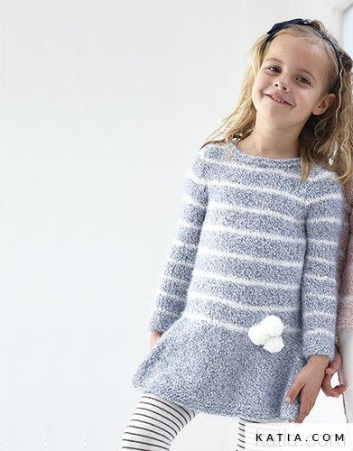 Kleid Kinder Herbst Winter Modelle Anleitungen Katia Com