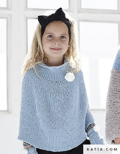 Poncho Kids Autumn Winter Models Patterns Katia