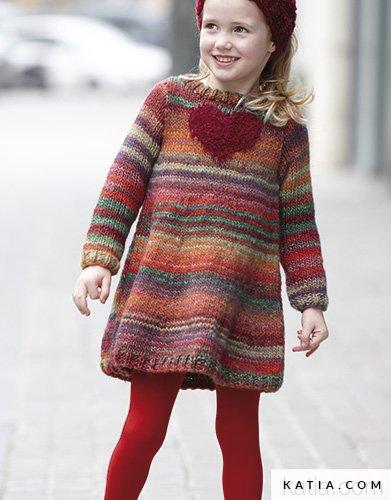 Vestito - Bambini - Autunno   Inverno - modello   schemi  1feb8162890