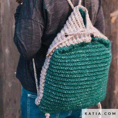 Backpack Woman Autumn Winter Models Patterns Katia