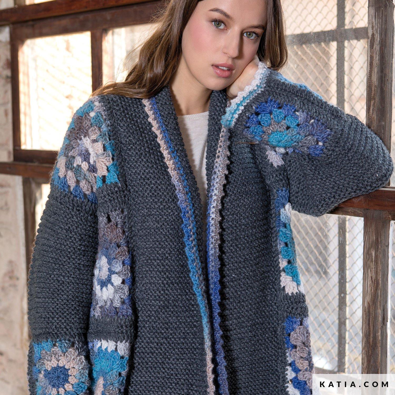 75f431b93a790 pattern knit crochet woman jacket autumn winter katia 6051 45 g