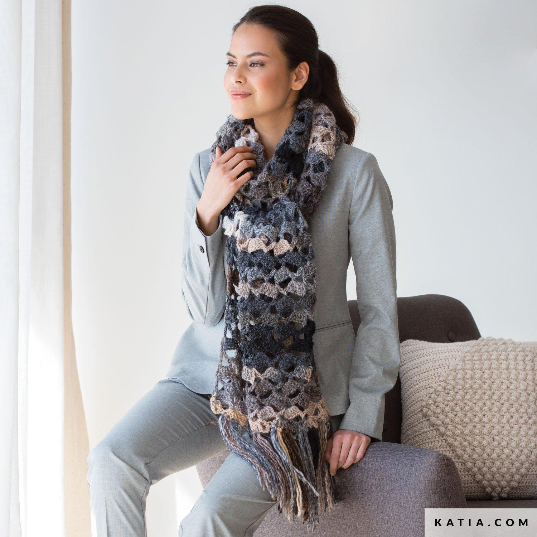charpe femme automne hiver mod les patrons. Black Bedroom Furniture Sets. Home Design Ideas