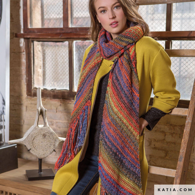 5ae2d8bfc0fb patron tricoter tricot crochet femme echarpe automne hiver katia 6052 29 g