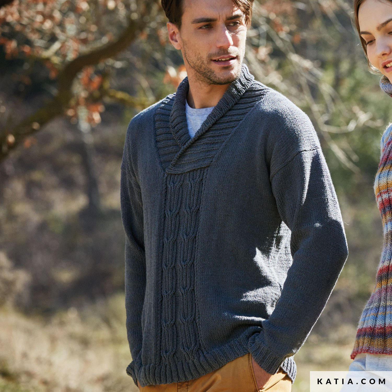 Sweater Man Autumn Winter Models Patterns Katia