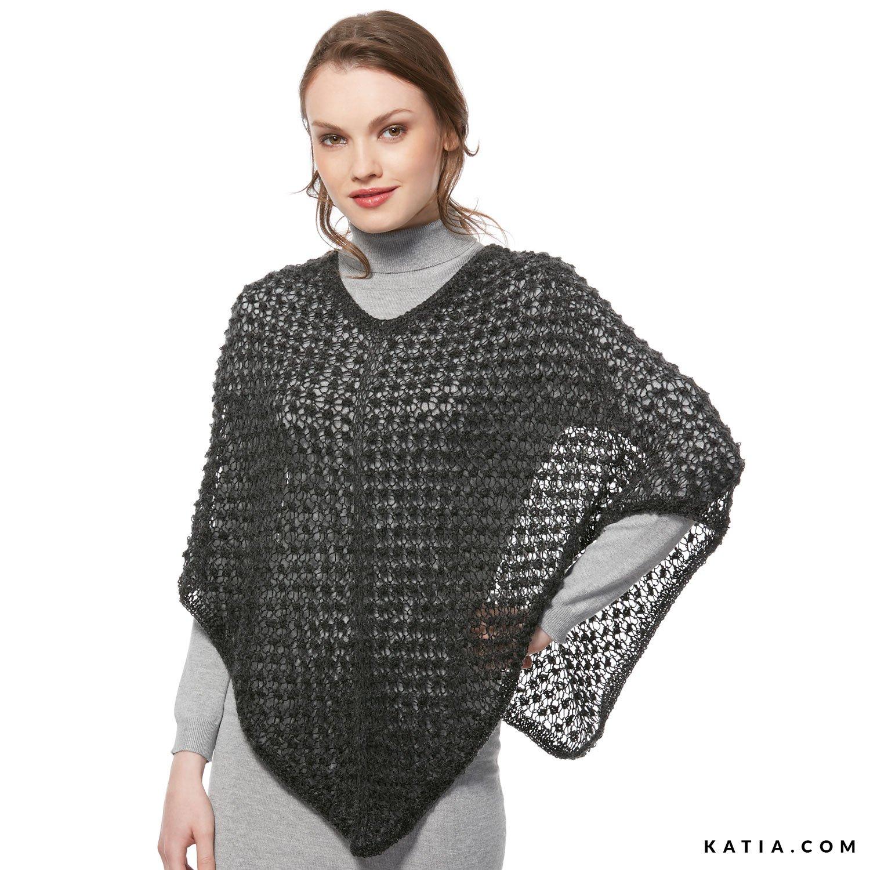 Poncho - Woman - Autumn / Winter - models & patterns | Katia.com