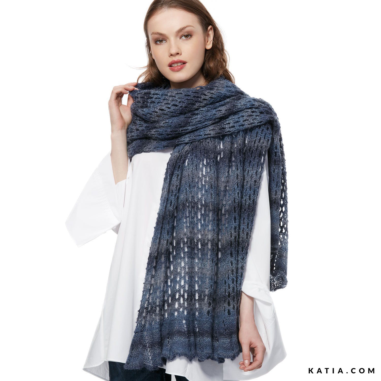 Shawl - Woman - Autumn / Winter - models & patterns | Katia