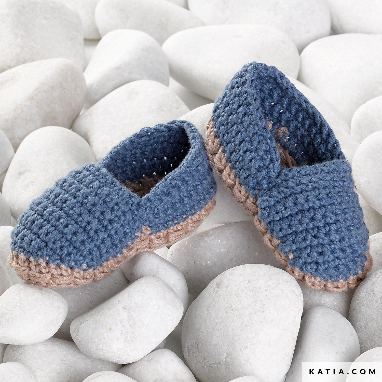 a7243d2ab170e patron tricoter tricot crochet layette chausson printemps ete katia 6070  42a g