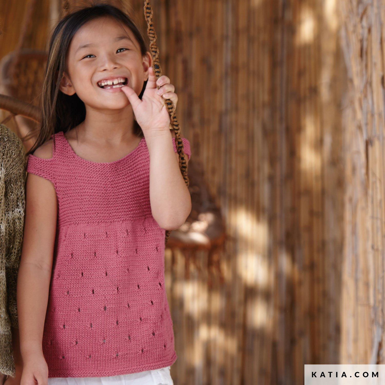 patroon breien haken kinderen topje lente zomer katia 6071 19 g