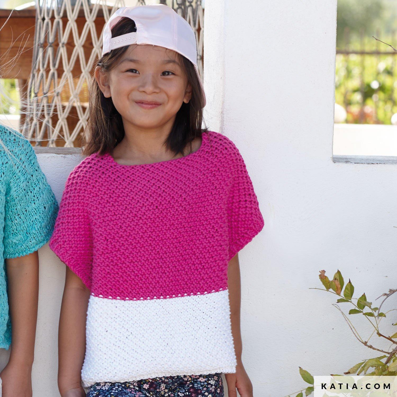 e9f16c658 pattern knit crochet kids sweater spring summer katia 6071 30 g