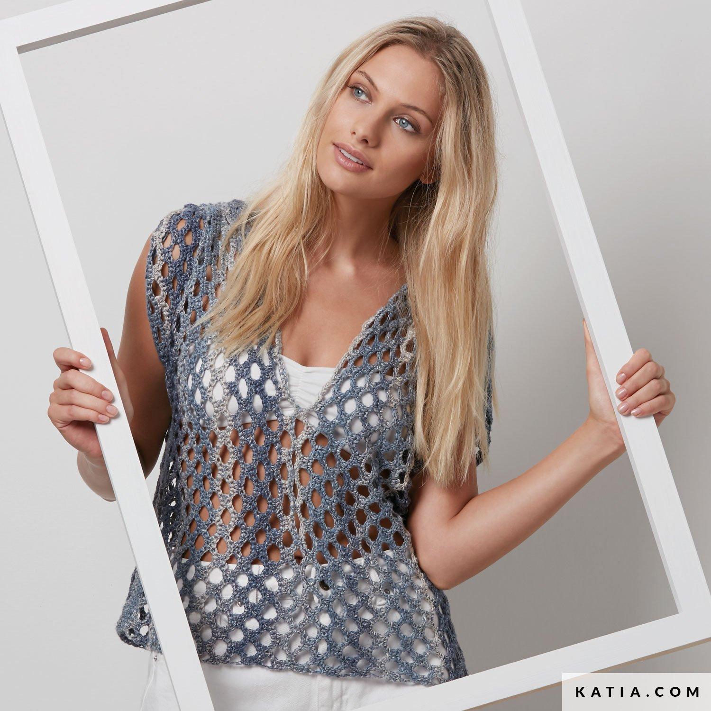 New Topje - Dames - Lente / Zomer - modellen & patronen | Katia.com @VN37