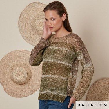 patroon breien haken dames trui lente zomer katia 6072 37 p