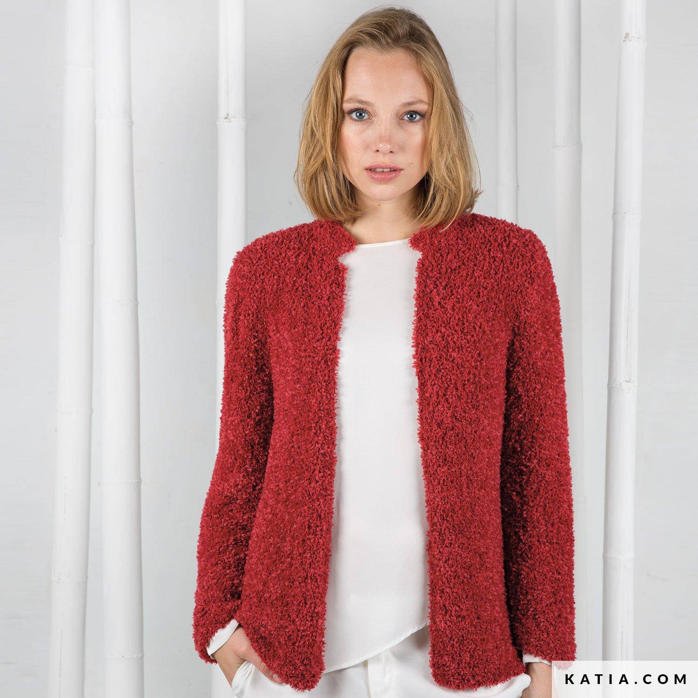 614cdea31612a patron tejer punto ganchillo mujer chaqueta primavera verano katia 6073 53 g