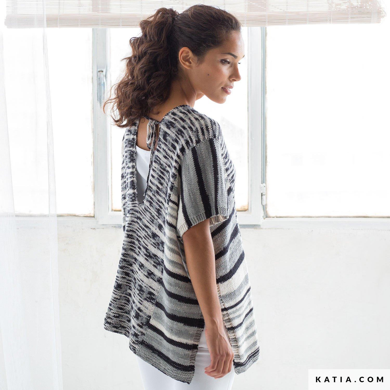 Poncho - Mujer - Primavera / Verano - patrones | Katia.com