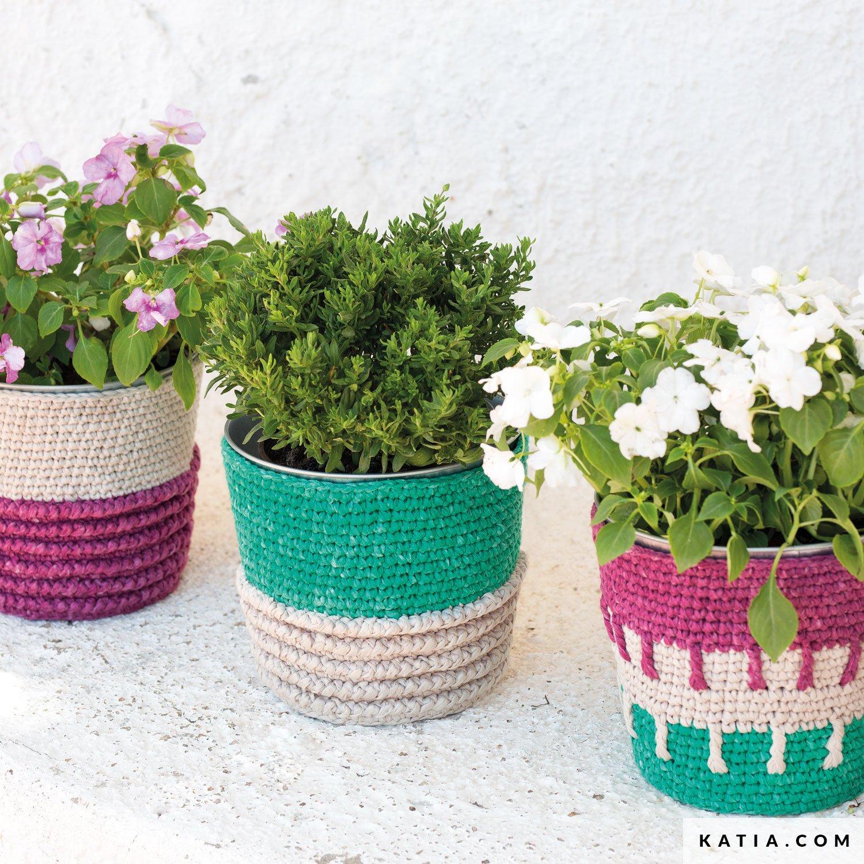 Katia Yarns & Flowerpot Cover - Home - Spring / Summer - models \u0026 pat ...